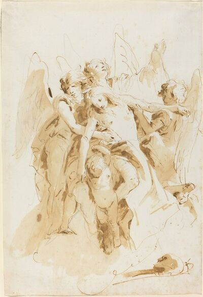 Giambattista Tiepolo, 'Saint Mary Magdalene Lifted by Angels', ca. 1740