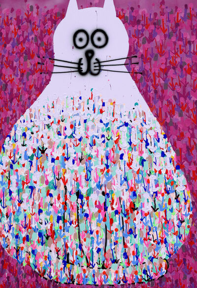 Ludovilk Myers, 'Chat fleurs', 2020