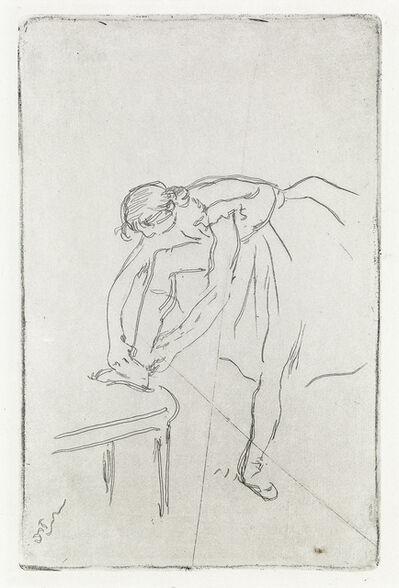Edgar Degas, 'Danseuse mettant son chausson', Circa 1892