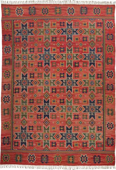 Märta Måås-Fjetterström, 'Early 'Stjärnor på rödt' (Stars on red) rug', designed and executed 1913-1919
