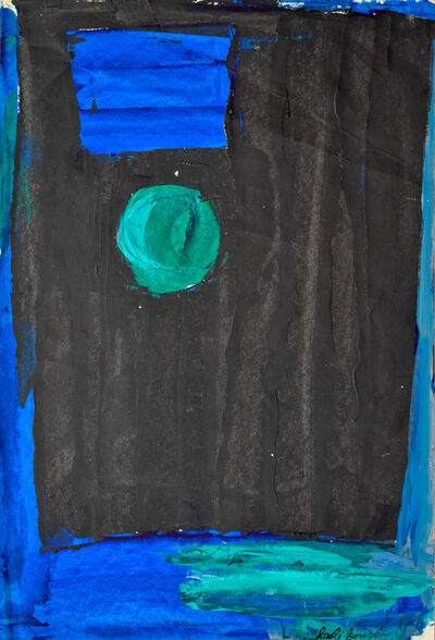 Dusti Bongé, 'Untitled (Black Rectangle and Blue Sun)', ca. 1975