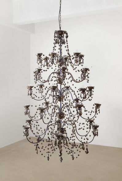 Pae White, '5 Tier Chandelier (Petrol Variation)'
