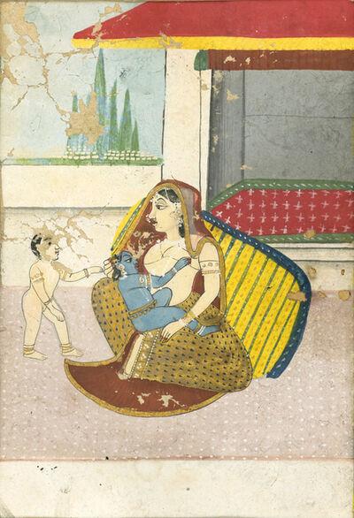 India, Bundi, 'Yashoda and Krishna ', 19th century