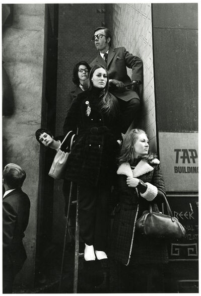 Paul McDonough, 'Parade, People on Ladder, NYC', 1970