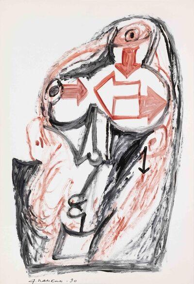 """Alexander Pankin, '""""Thinking""""', 1990"""