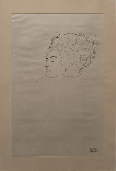 Gustav Klimt, 'Study of a Face', 1919