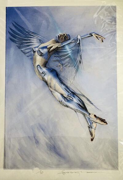 Hajime Sorayama, 'UNTITLED (FLYING HYBRID)', 2020