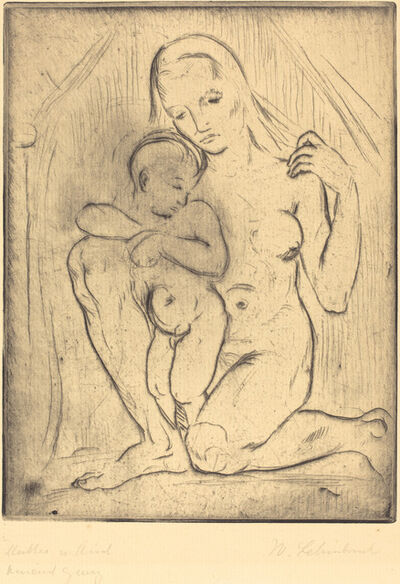 Wilhelm Lehmbruck, 'Mutter und Kind (Mother and Child)', 1910