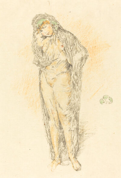 James Abbott McNeill Whistler, 'Draped Figure Standing'