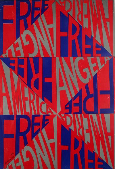 Faith Ringgold, 'America Free Angela', 1971