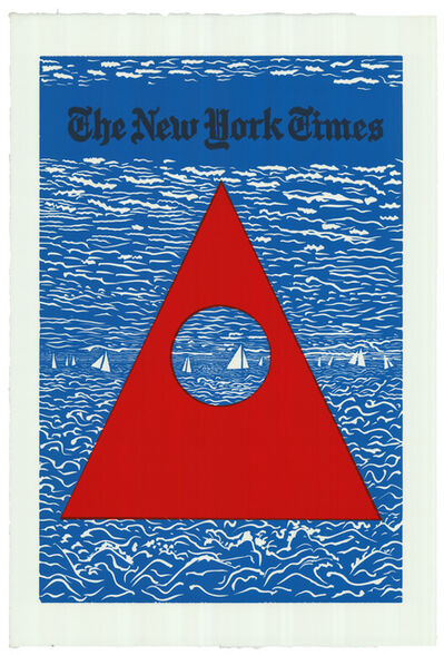 Derek Boshier, 'New York Times Leisure Section', 1997
