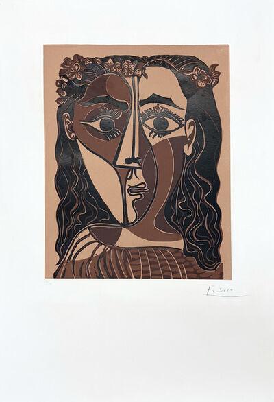 Pablo Picasso, 'Petite tête de femme couronnée', 1962