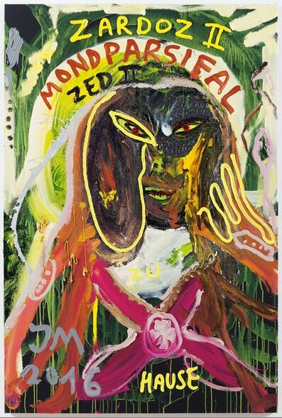 "Jonathan Meese, '""SORRY, ABER MEIN RICHTIGER NAME IST DOC DJIFFI DE CRYREUTH, SORRY, ABER SO IST'S...""', 2016"