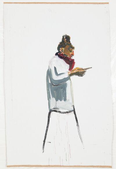 Damien Cabanes, 'Sandra de profil au téléphone', 2018