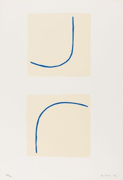 William Scott (1913-1989), 'Forms Encaged (Archeus 41)', 1972