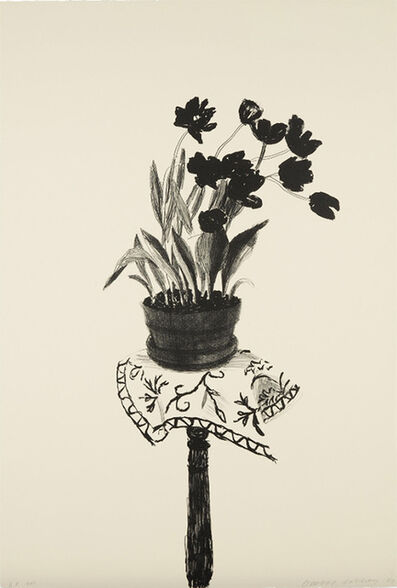 David Hockney, 'Black Tulips', 1980