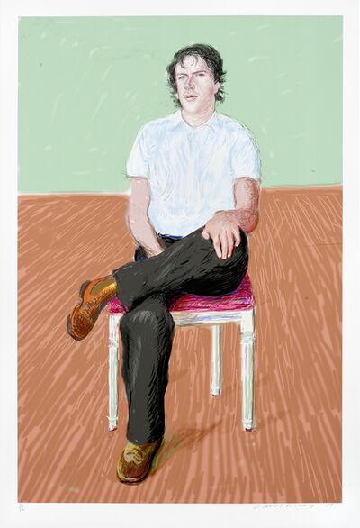 David Hockney, 'Jonathan Wilkinson', 2008