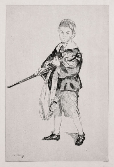Édouard Manet, 'Boy with a Sword (Turned Left)', 1862
