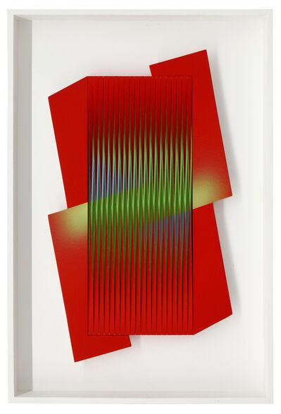 Alberto Biasi, 'Avvinghiato dal rosso', 2015