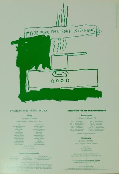 Jean-Michel Basquiat, 'Food For The Soup Kitchens', 1983