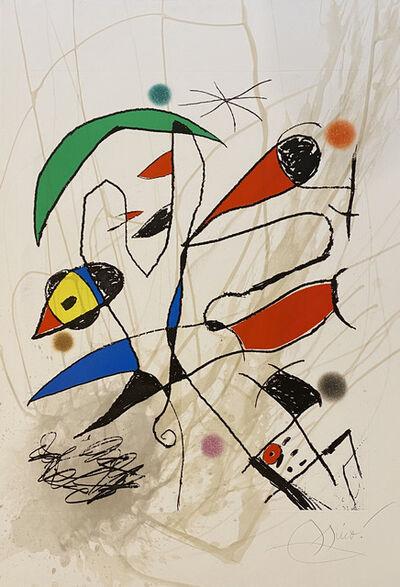 Joan Miró, 'L'Avaleur de Sabre Lune', 1975