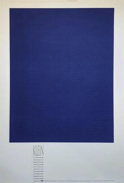 Yves Klein, 'Monochrome Bleu (IKB 3)', 1989