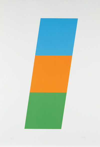 Ellsworth Kelly, 'Blue/Red-Orange/Green', 1970-1971