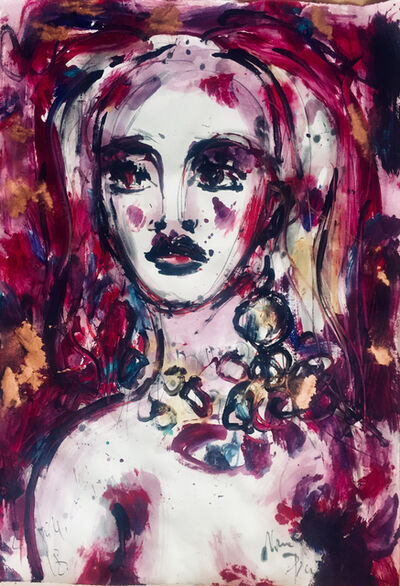 Norma de Saint Picman, 'POURPOUR LADY', 2018