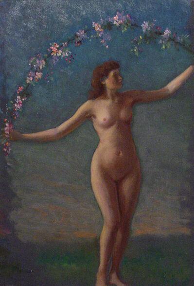 William Partridge Burpee, '[Female Nude with Garland]', ca. 1890