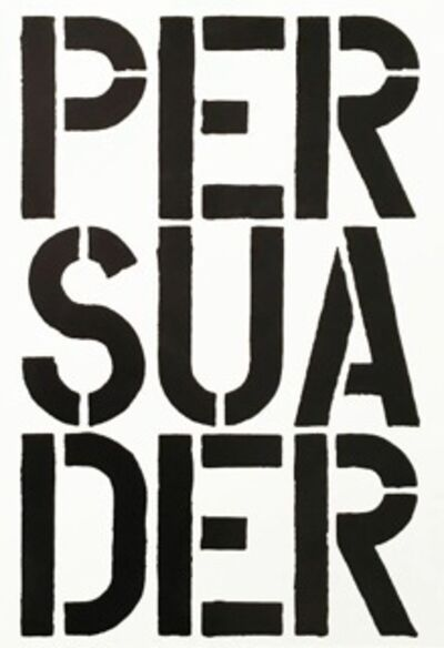 Christopher Wool, 'Persuader', 1989