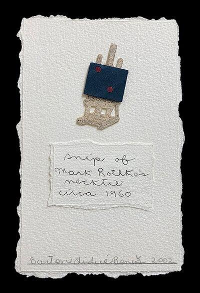 Barton Lidice Benes, 'snip of Mark Rothko's necktie, circa 1960', 2002