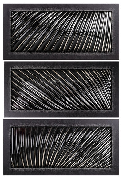 "Julie Mihalisin, 'Three-piece wall sculpture, ""Night Fire""', 2001"