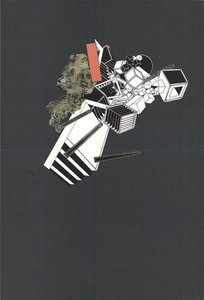 Alain Le Yaouanc, 'Geometric Study on Black', 1969