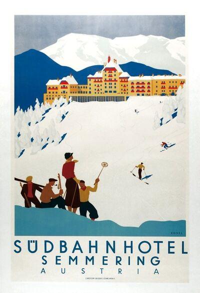 Hermann Kosel, 'SÜDBAHN HOTEL SEMMERING AUSTRIA', 1933