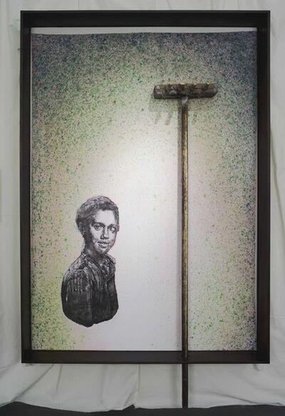 Edgar Arceneaux, 'Class Photo. Backdrop. Green. ', 2016