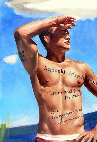 Jack Balas, 'Reginald Marsh: Tattoo and a Haircut (#547)', 2011