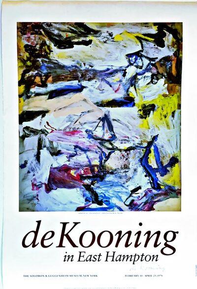 Willem de Kooning, 'de Kooning in East Hampton (Hand Signed), from Estate of Alan York (de Kooning's eye doctor)', 1978