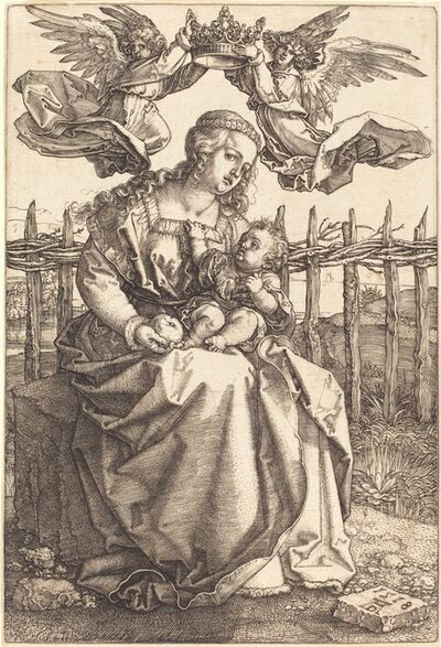 Albrecht Dürer, 'The Virgin and Child Crowned by Two Angels', 1518