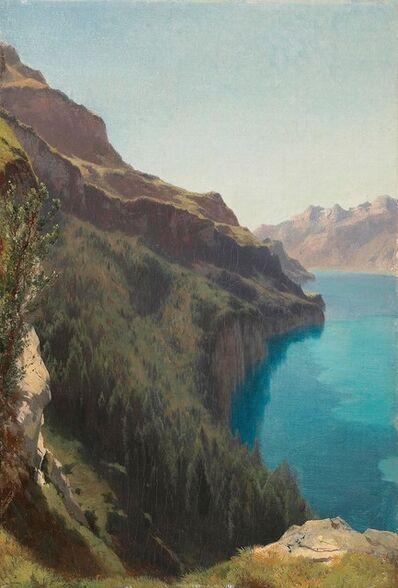 Alexandre Calame, 'Cliffs of Seelisberg, Lake Lucerne', ca. 1861