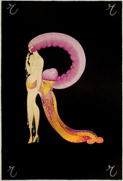 """Erté (Romain de Tirtoff), 'Letter """"R""""', 1976"""