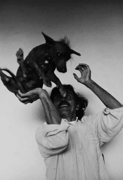 Graciela Iturbide, 'Francisco Toledo and Xolo, Juchitan, Oaxaca', 1995