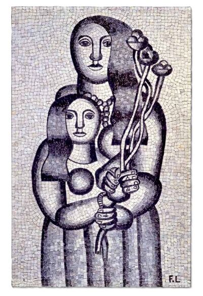 Fernand Léger, 'Deux femmes aux fleurs sur fond gris (Two Women with Flowers on a Grey Background)', 1927