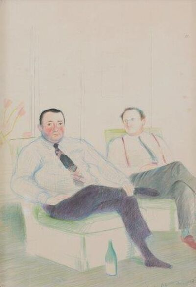 After David Hockney, 'Lagan's Brasserie Illustrated Menu', 1975
