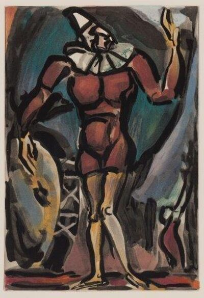 Georges Rouault, 'Le Clown a la Grosse Caisse', 1930