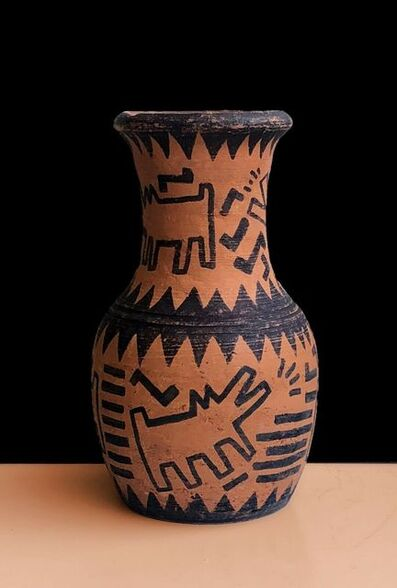 Keith Haring, 'Dogs radiant, teracota ', 1988