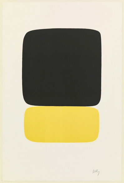 Ellsworth Kelly, 'Black over Yellow (Noir sur jaune) from Suite of Twenty-Seven Color Lithograph.', 1964