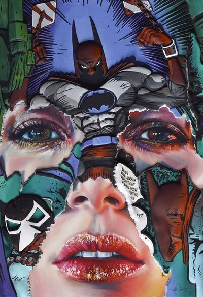 Sandra Chevrier, 'The Cage between Freedom and Captivity ( Teal, Hand Embellished)', 2019