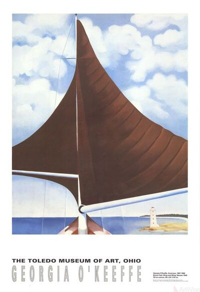 Georgia O'Keeffe, 'Brown Sail', 1992
