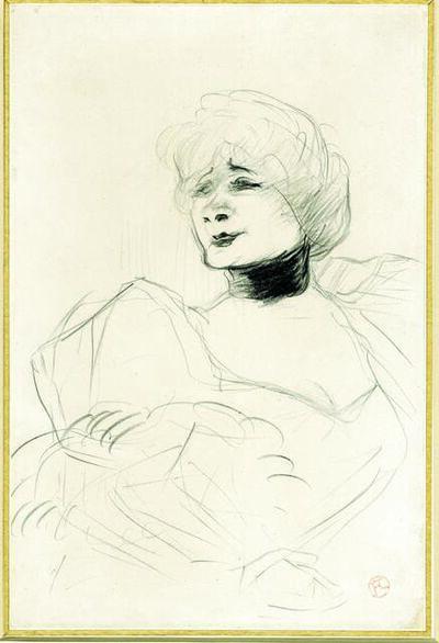 Henri de Toulouse-Lautrec, 'Portrait of Marcelle Lender', 1893-1895