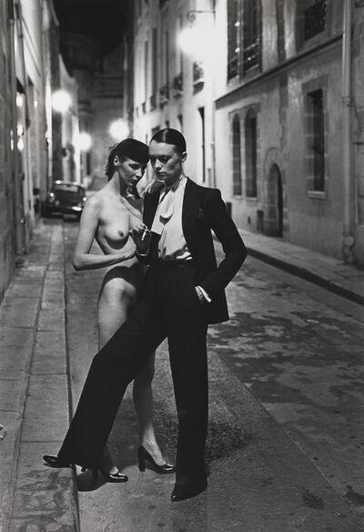 Helmut Newton, 'Rue Aubriot, Paris collections, Paris, 4 August ', 1975